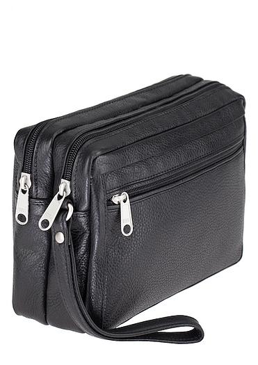 ESTELLE Kožená taška na doklady 8011 černá