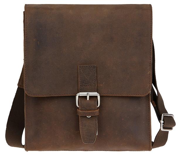 LEONHARD HEYDEN Kožená taška přes rameno SALISBURY S 7656 hnědá