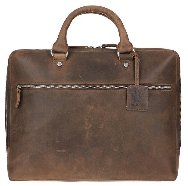 LEONHARD HEYDEN Kožená taška na notebook SALISBURY 7663 hnědá