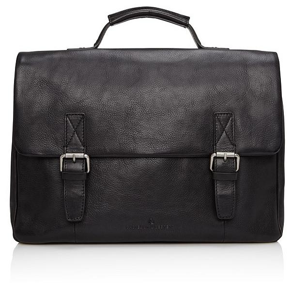 Castelijn & Beerens Kožená taška na notebook Bravo 639484 černá
