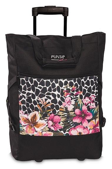 PUNTA wheel Nákupní taška na kolečkách 10008-0121 černo - růžová