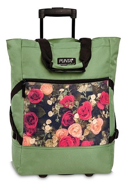 PUNTA wheel Nákupní taška na kolečkách 10008-1398 khaki / multicolor