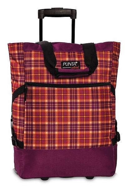 PUNTA wheel Nákupní taška na kolečkách 10008-3115 azalková / oranžová