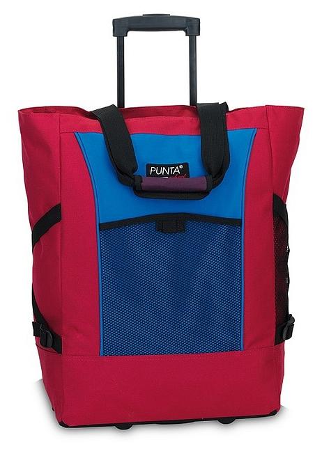 PUNTA wheel Nákupní taška na kolečkách PUNTA wheel 06980-3134 azalkovo-modrá