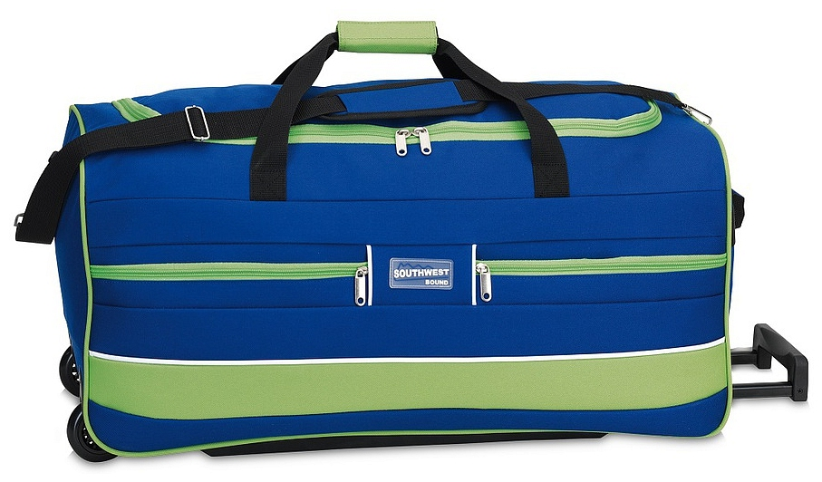 Southwest Cestovní taška na kolečkách 30212-0633 modrá / zelená