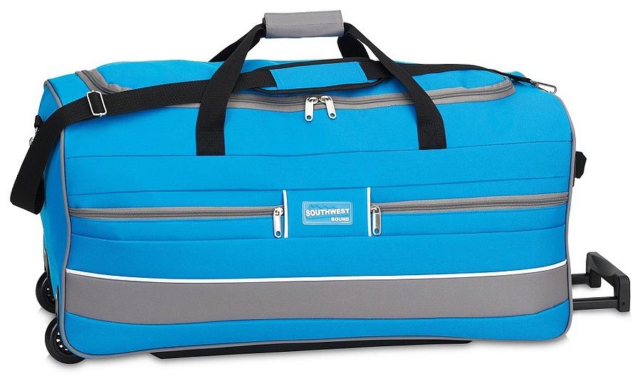 Southwest Cestovní taška na kolečkách 30212-0428 tyrkysová / šedá