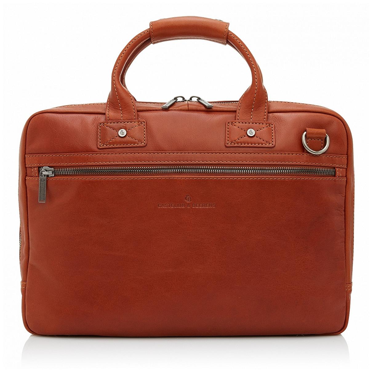 Castelijn & Beerens Pánská kožená taška na notebook 609472 koňak