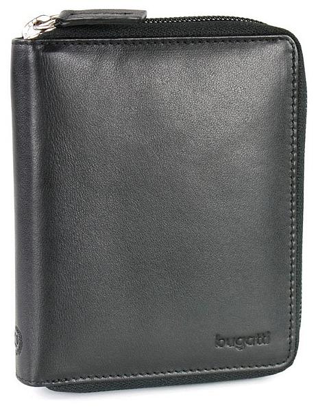 Bugatti Zipová kožená peněženka PRIMO 49107701 černá