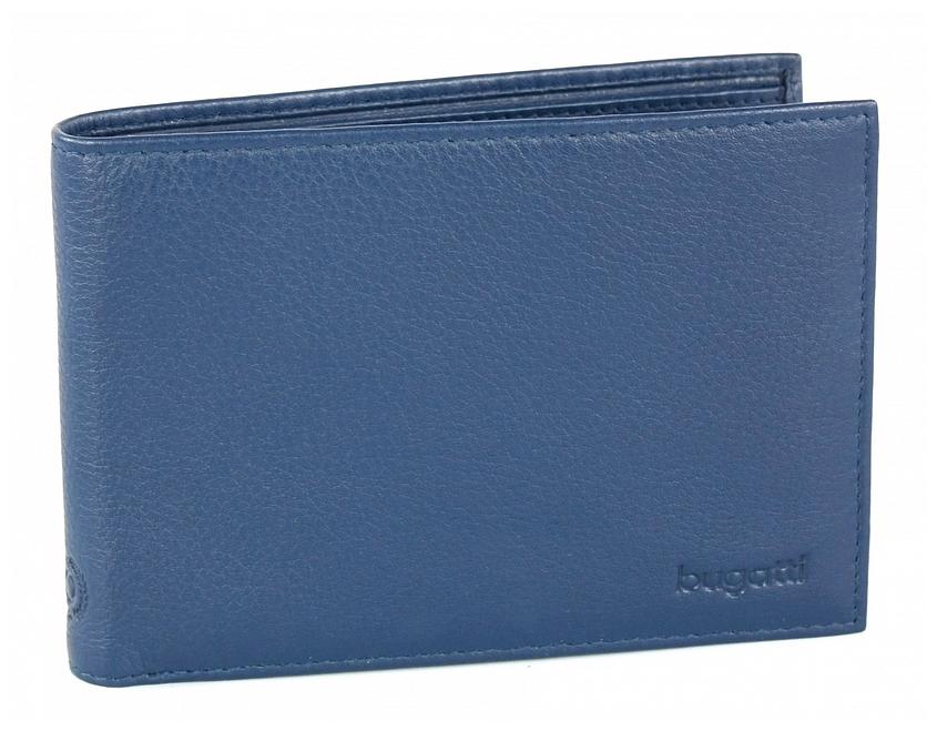Bugatti Pánská kožená peněženka SEMPRE 49117705 modrá
