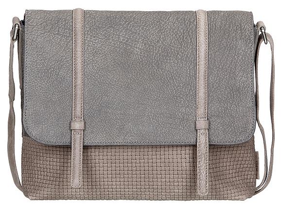 JOST Dámská kožená taška přes rameno JOST TRECCIA 2580-804 šedo-béžová