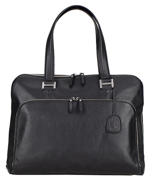 LEONHARD HEYDEN Kožená business kabelka MONTPELLIER 2511 černá