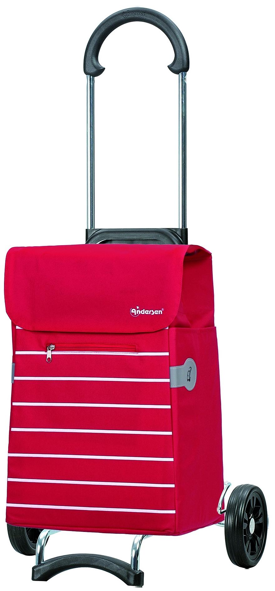 Andersen Nákupní taška na kolečkách SCALA SHOPPER® LINI 112-108-70 červená