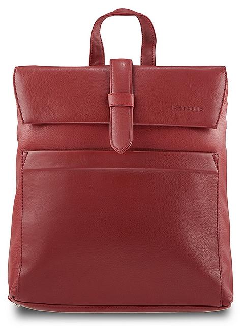 ESTELLE Dámský kožený batoh 0141 červený