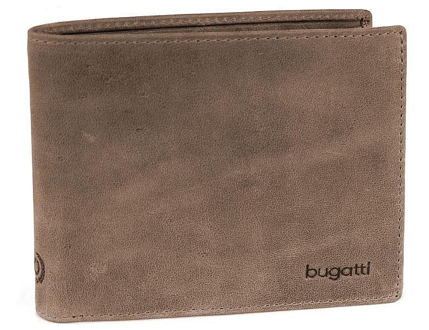 Bugatti Pánská kožená peněženka VOLO 49217702 hnědá