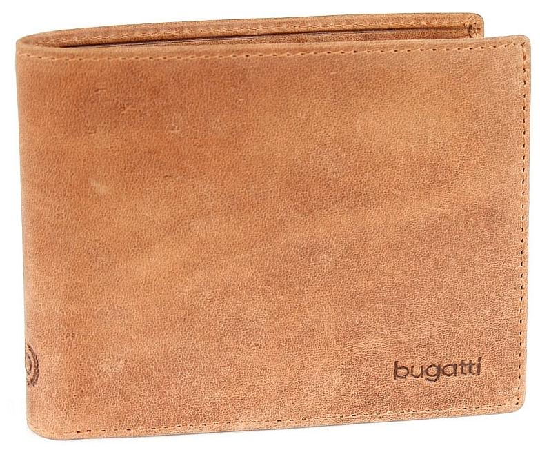 Bugatti Pánská kožená peněženka VOLO 49217707 koňak