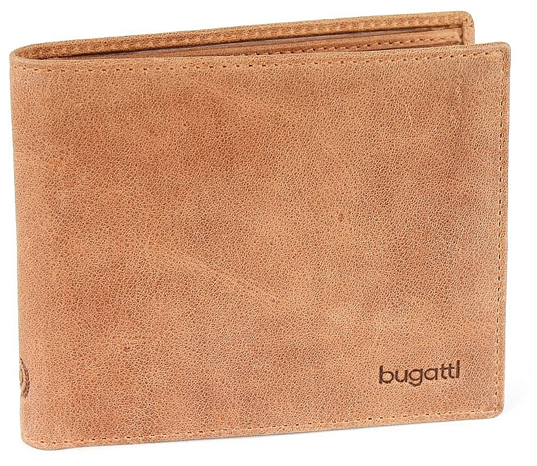 Bugatti Pánská kožená peněženka VOLO 49217807 koňak